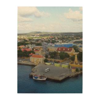 Kralendijk Harborfront Impresión En Madera