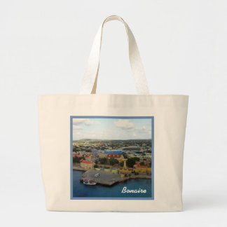 Kralendijk Harborfront Large Tote Bag