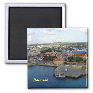 Kralendijk Harborfront 2 Inch Square Magnet