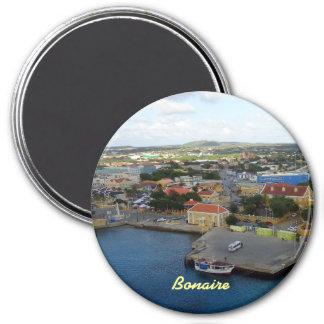 Kralendijk Harborfront 3 Inch Round Magnet