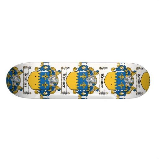 Kramer Family Crest Custom Skate Board