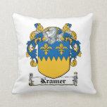 Kramer Family Crest Throw Pillows