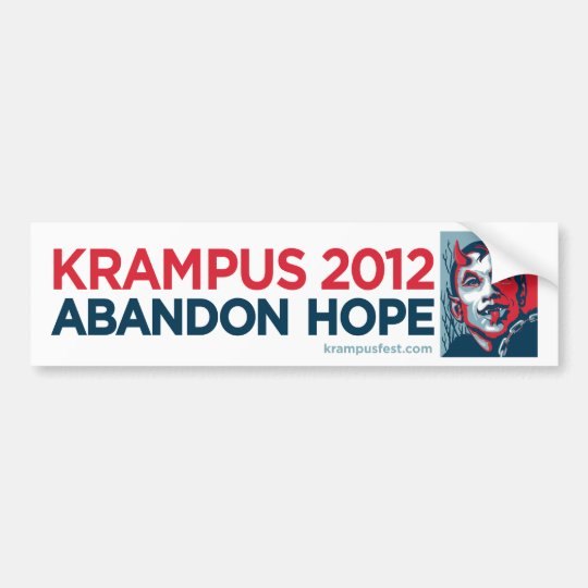 Krampus 2012 Abandon Hope Slogan Sticker