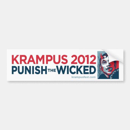 Krampus 2012 Punish the Wicked Slogan Sticker