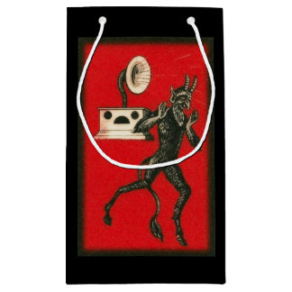 Krampus and the Victrola Small Gift Bag