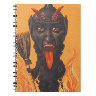 Krampus Broom Hell Fire Notebook