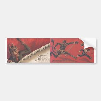 Krampus Bumper Sticker