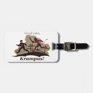 Krampus Chases Kid Luggage Tag