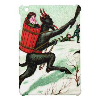 Krampus Chasing Bad Children Winter Snow Case For The iPad Mini