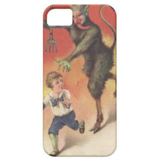 Krampus Chasing Child iPhone SE/5/5s Case
