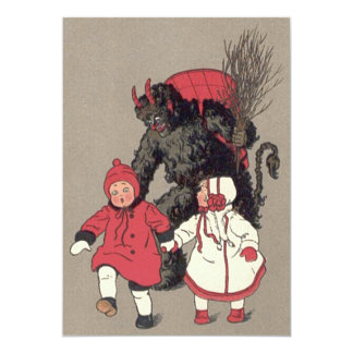 Krampus Chasing Children Switch Card