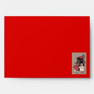 Krampus Chasing Children Switch Envelope