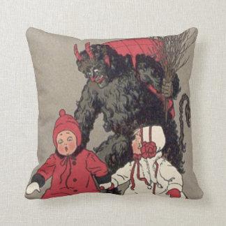Krampus Chasing Children Switch Throw Pillow