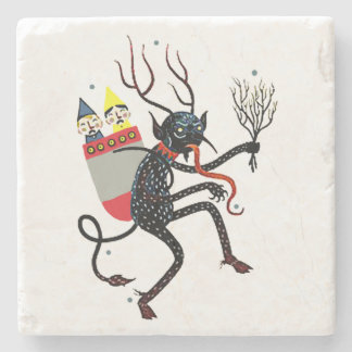 Krampus Christmas Devil Marble Coaster