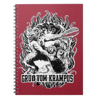Krampus Christmas in Black Notebook