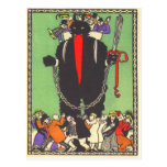 Krampus Collecting The Bad People Postcards