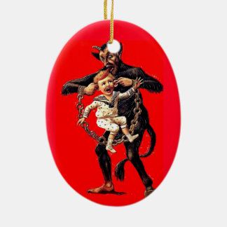 Krampus comes for bad children Christmas ornament