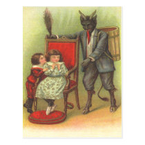 Krampus Coming For Bad Children Postcard