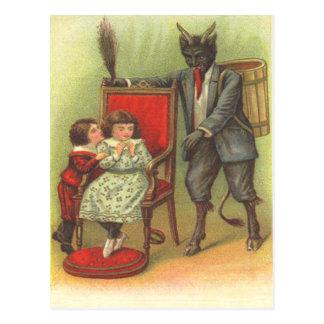 Krampus Coming For Bad Children Postcard