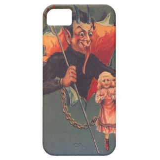 Krampus con el chica y el Pitchfork iPhone 5 Carcasa