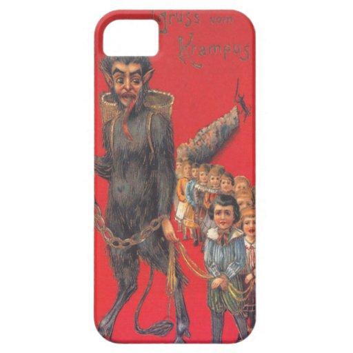 Krampus con los malos niños iPhone 5 Case-Mate carcasas
