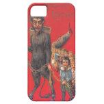 Krampus con los malos niños funda para iPhone 5 barely there
