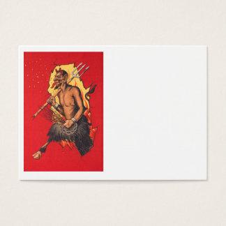Krampus Demon Devil Pitchfork Switch Business Card