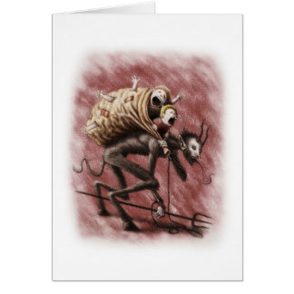 Krampus devilish Greeting Card