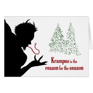 Krampus es la razón de la tarjeta de felicitación