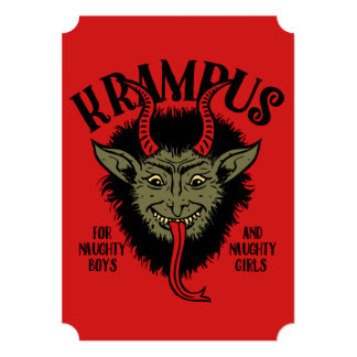 Krampus Face Naughty Card