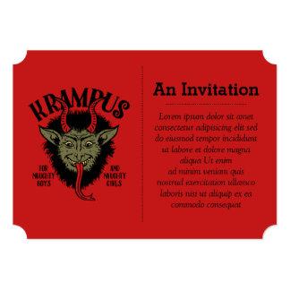 Krampus Face Naughty Invitation