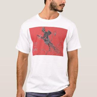 Krampus Flying On Broom T-Shirt