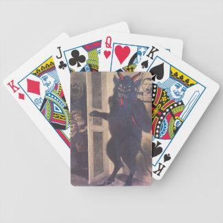 Krampus Gathering Family Bicycle Playing Cards