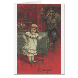 Krampus Has Had Enough Of Your Tomfoolery Card