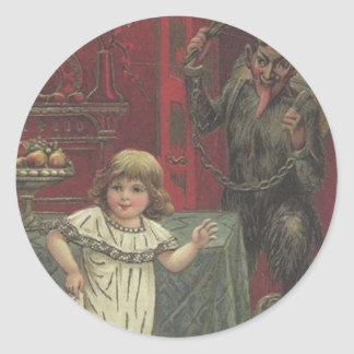 Krampus Has Had Enough Of Your Tomfoolery Classic Round Sticker