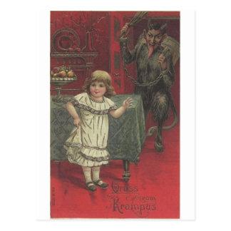 Krampus Has Had Enough Of Your Tomfoolery Postcard