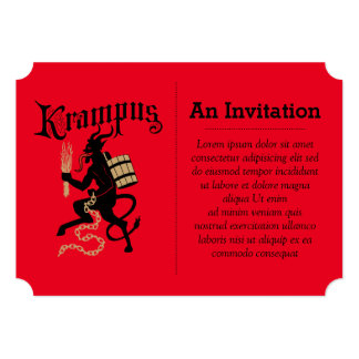Krampus Personalized Announcement Cards