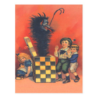 Krampus Jack-In-A-Box Postcard
