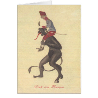 Krampus Kidnapping Adult Card