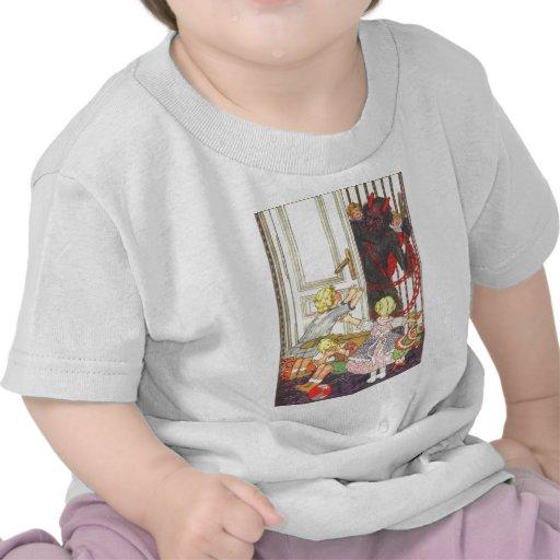 Krampus Kidnapping Bad Children Shirt