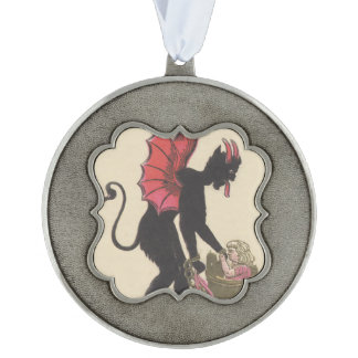 Krampus Kidnapping Child Chain Wings Ornament