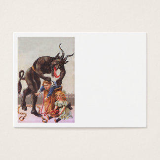 Krampus Kidnapping Children Business Card