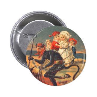 Krampus Kidnapping Children 2 Inch Round Button