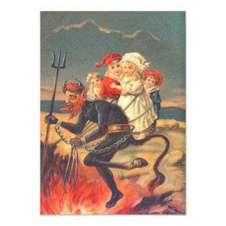 Krampus Kidnapping Children Card