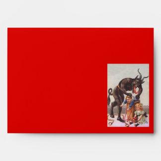 Krampus Kidnapping Children Envelope