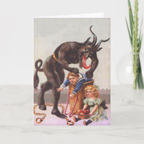 Krampus Kidnapping Children Holiday Card