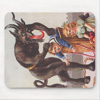 Krampus Kidnapping Children Mouse Pad