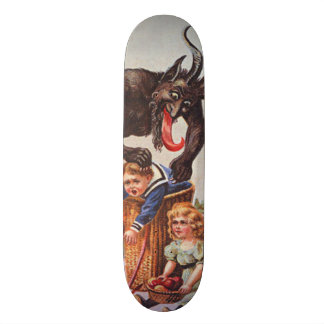 Krampus Kidnapping Children Skateboard