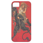 Krampus Kidnapping Girl iPhone 5 Cases