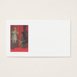 Krampus Kidnapping Girl Toy Business Card
